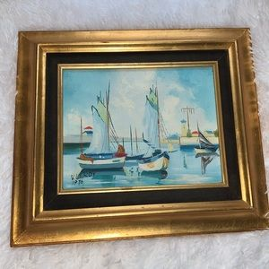 Vintage Oil Painting hand painted and signed Leroy